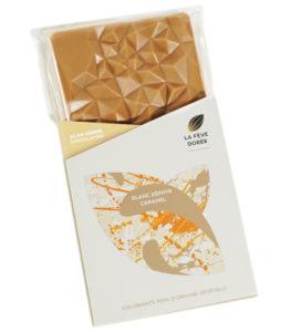 Tablette Chocolat Blanc 35%, Caramel Beurre Salé